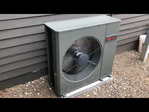 Trane Low Profile Air Conditioner Installed by Clean Energy Comfort