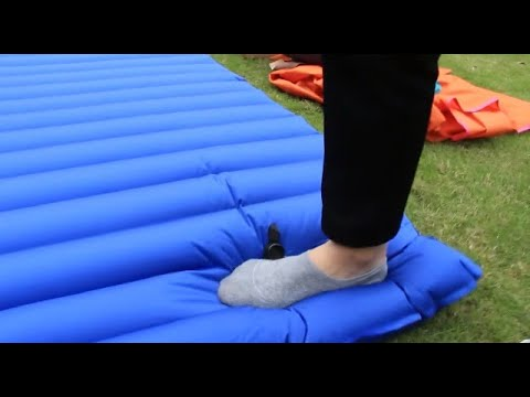 HIKENTURE Double Sleeping Pad - Inflatable Camping Air Mattress - Light and Compact