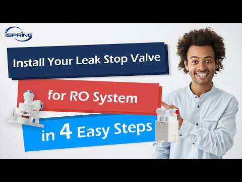 iSpring Leak Stop Valve for Reverse Osmosis RO Water System DIY Installation