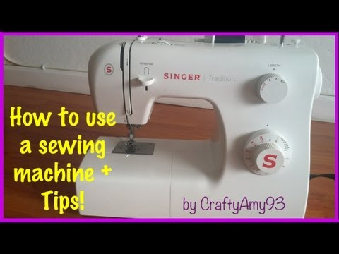 How to use a sewing machine + Sewing Tips! (Easy for Beginners)