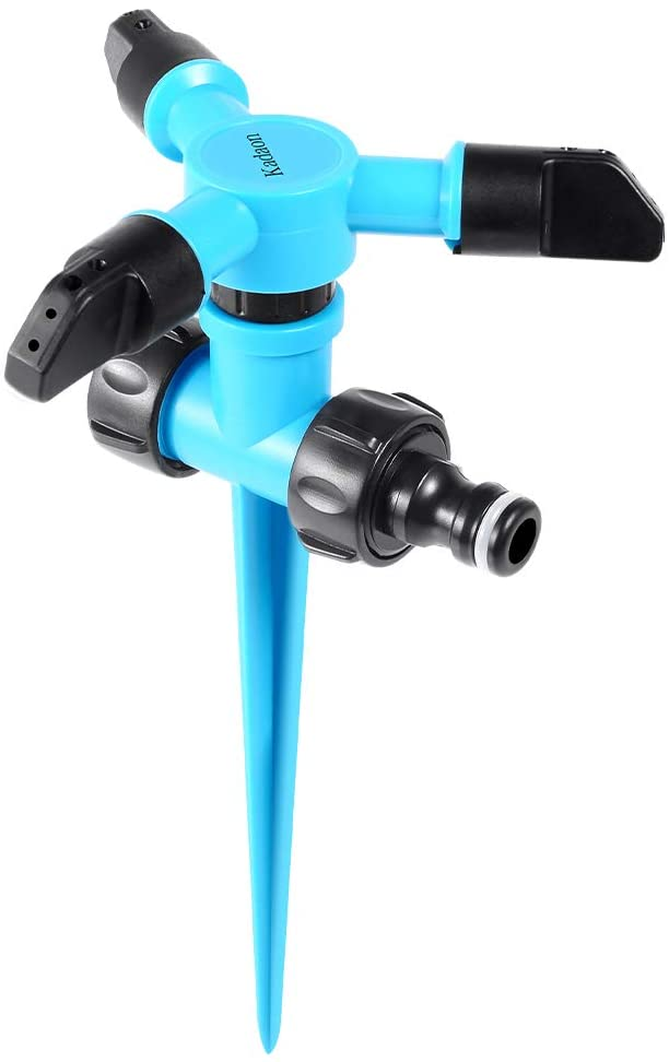 spinning sprinkler color blue stationary